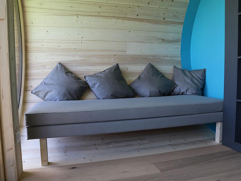 Création coussin et assises pour décoration intérieure