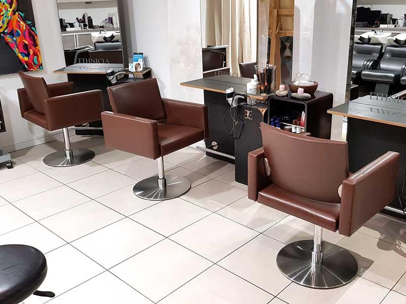 restauration fauteuil salon de coiffure